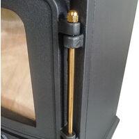 Defra Approved 4.2kw Cast Iron Wood Log Burner Woodburning Stove Fireplace