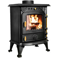 Defra 5kw Cast Iron Wood Log Burner Multifuel Woodburning Stove