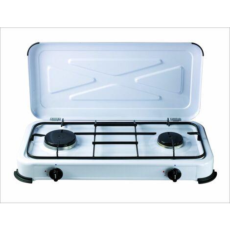 Cocina Portatil 580x330x90mm 1,4 /1,2 Kw A Gas Vivah 2 Fuego