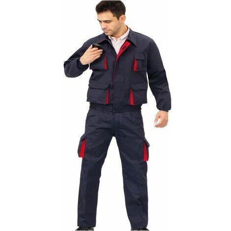 Pantalon Trabajo T42 Tergal Az/ro Cargo Mltibol Vesin