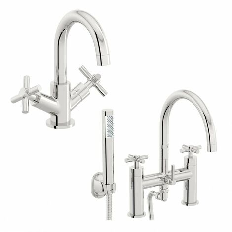 Mode Tate basin and bath shower mixer tap pack