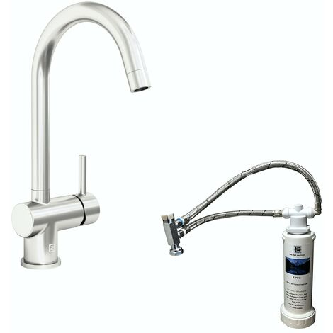 Schon Eigg C spout kitchen tap with complete filter kit