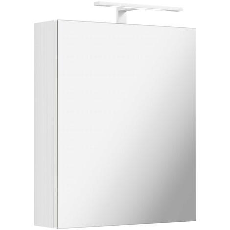 Mode Hale over & under lit LED illuminated mirror cabinet 600 x 500mm with demister & charging socket
