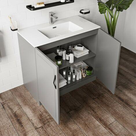 Mode Meier Grey Floorstanding Vanity, Mode Meier Grey Wall Hung Vanity Unit And Basin 600mm