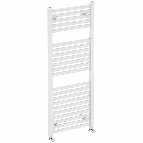 The Heating Co. White heated towel rail 1200 x 600