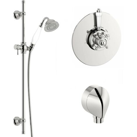 Orchard Dulwich thermostatic shower valve and shower riser rail set