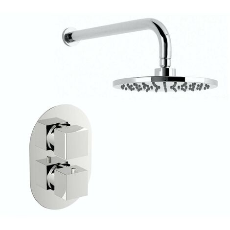 Mode Ellis thermostatic mixer shower with wall shower head