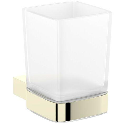 Mode Spencer gold tumbler and holder
