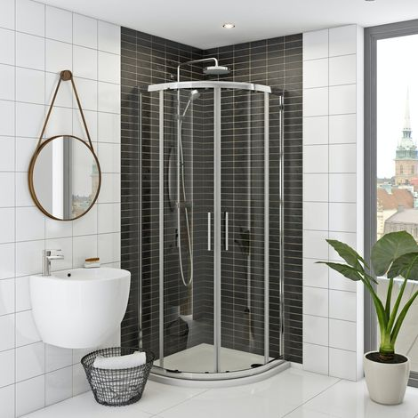 Mira and Mode shower enclosure and tray bundle 800 x 800 with Mira Agile mixer shower