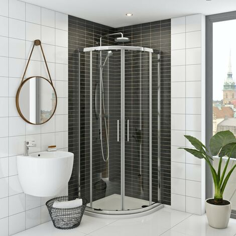 Mira and Mode shower enclosure and tray bundle 900 x 900 with Mira Agile mixer shower