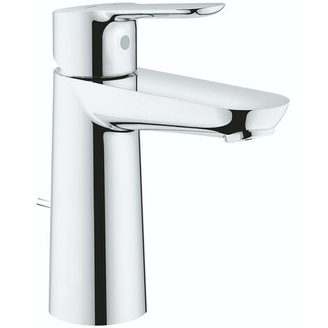 Grohe BauEdge medium basin mixer tap with pop up waste