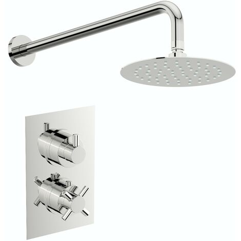 Mode Tate thermostatic mixer shower with wall 400mm shower head