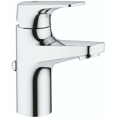 Grohe BauFlow single lever basin mixer tap with pop up waste