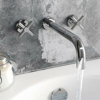 Mode Tate wall mounted basin and bath mixer tap pack