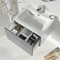 Mode Burton white & grey ice stone wall hung vanity unit and basin 600mm