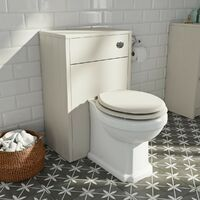 Orchard Dulwich back to wall toilet with ivory wooden seat