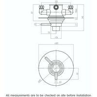 Mode Harrison concealed thermostatic shower valve