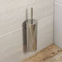 Accents Options wall mounted stainless steel toilet brush holder