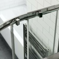 Orchard 6mm right handed offset quadrant shower enclosure and stone shower tray 900 x 760