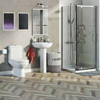 Orchard Balance complete pivot shower enclosure suite 900 x 800