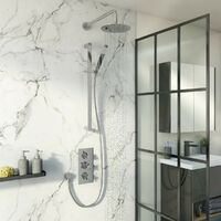Mode Tate thermostatic mixer shower with wall shower and slider rail 200mm shower head
