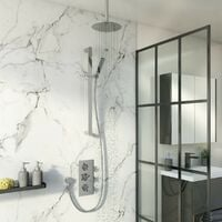 Mode Tate thermostatic mixer shower with ceiling shower and slider rail
