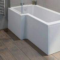 Orchard L shaped shower bath acrylic front panel 1500mm
