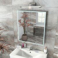 Mode Mayne LED illuminated mirror cabinet 700 x 600mm with charging socket