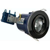 Forum adjustable fire rated bathroom downlight in black chrome