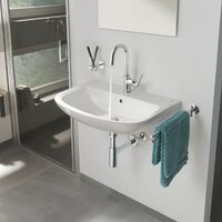 Grohe BauFlow high rise single lever basin tap with pop up waste