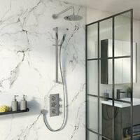 Mode Tate thermostatic mixer shower with wall shower and slider rail 300mm shower head