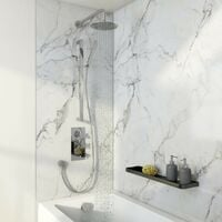 Mode Tate thermostatic mixer shower with wall shower, slider rail and bath filler 300mm shower head
