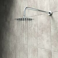 Mode Harrison thermostatic mixer shower with wall shower head 250mm shower head
