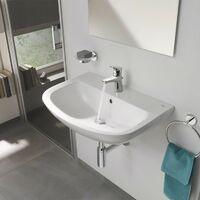 Grohe Bau Ceramic washbasin 60mm with small BauFlow basin mixer tap