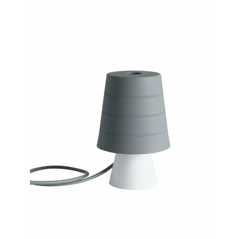 Lampada Da Tavolo Originale In Silicone Color Grigio 40 Watt E14