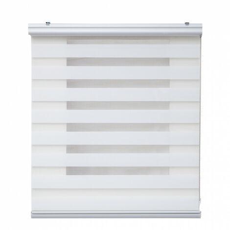 Estor Noche y Día Plus con acabados Premium, Blanco 60x250cm