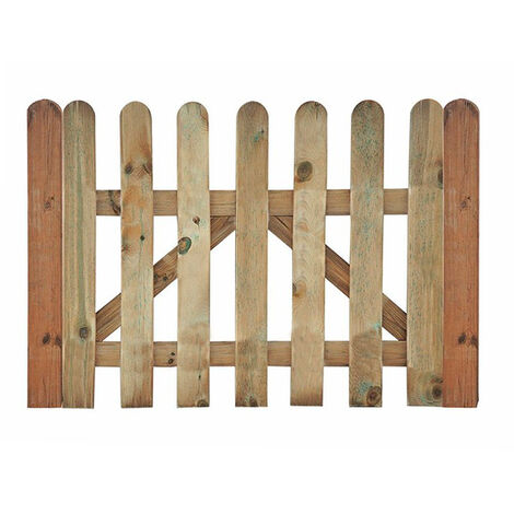 Puerta madera para valla clásica jardín