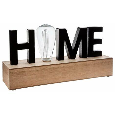 Lámpara sobremesa de madera Home