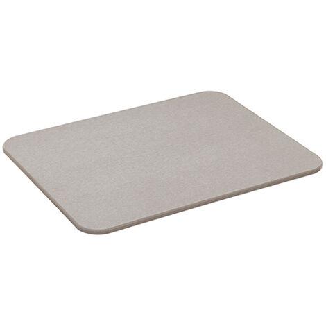 Alfombra de baño de diatomita gris 45x35cm