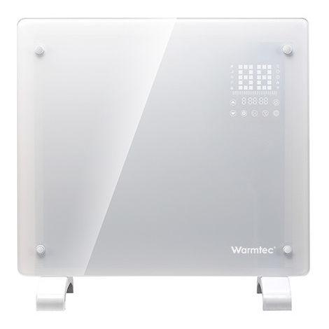 RADIATEUR électrique en verre EGW1000BI, 1000W, blanc, WIFI