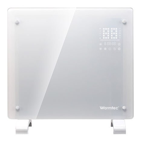 RADIATEUR électrique en verre EGW2000BI, 2000W, blanc, WIFI