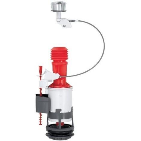 Mécanisme WC compact, double poussoir 3/6L avec la fixation du couvercle (ensemble avec joint et vis de fixation) 14010401