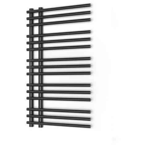Radiateur à eau chaude, Sèche serviette Brillo noir/anthracite 50x90cm