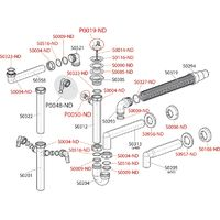 Vidage d'évier panier inox Ø70mm-sortie machine à laver / lave-vaisselle DN40