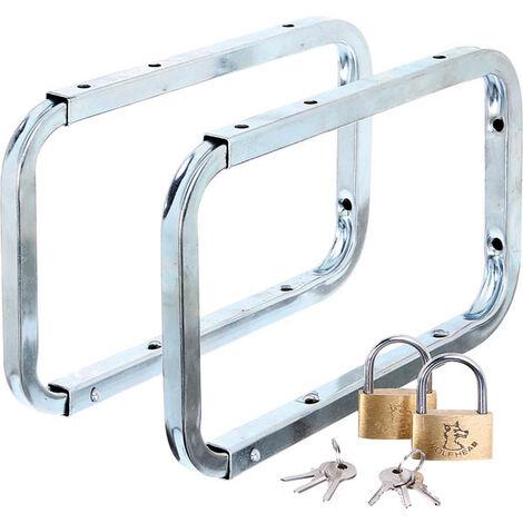 GAH ALBERTS Abschließbarer Leiterhaken zur Wandmontage und Leiteraufbewahrung, 2 Stück