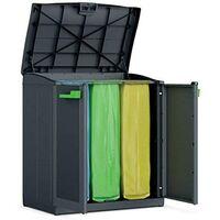 Pattumiera mobile per raccolta differenziata 3 posti armadio in resina rifiuti