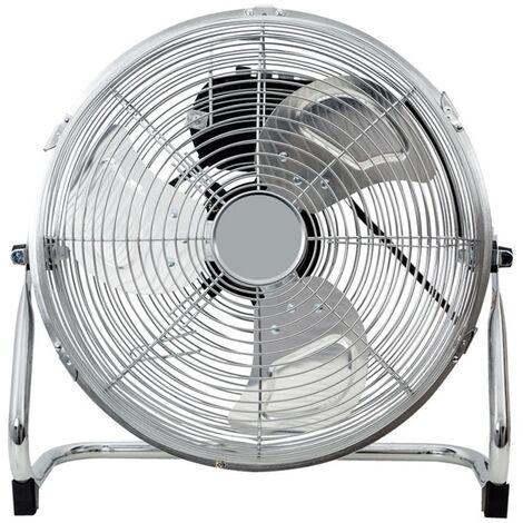 Ventilateur industriel 40 cm chrome 100W avec 3 vitesses