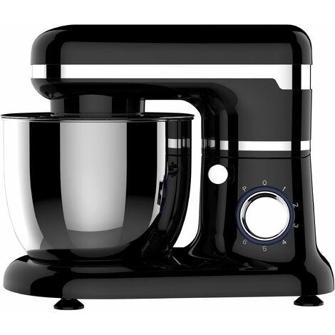 Robot de cuisine p?trisseur, fouet et batteur avec bol amovible en acier inoxydable d'une capacit? de 5L