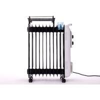 Radiateur bain d'huile 2500W avec corde à linge et réservoir d'humidification - Blanc