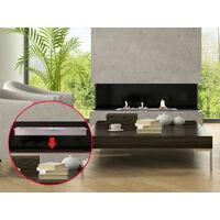 Bloc de combustion, pour cheminée à bois ou à encastrer, 120 cm de long - Argent